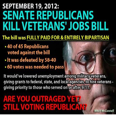And Yesterday February 28, 2014 They Killed A Crucial Veterans Bill in the Senate