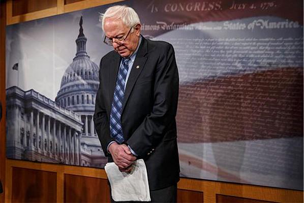 Senator Bernie Sanders after the Senate Republicans killed the Veterans benefits bill on Feb. 28, 2014 Photo by: www.csmonitor.com